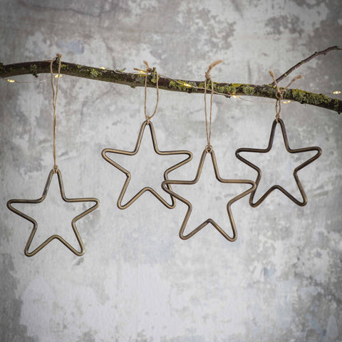 Bronze Hanging Star Decoration