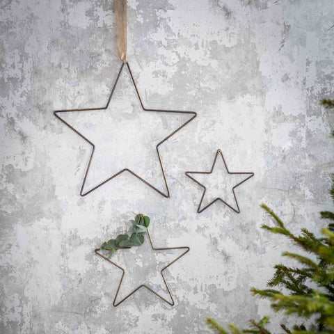 Antique Brass Star Medium