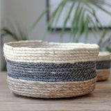 Shallow Striped Basket - Large