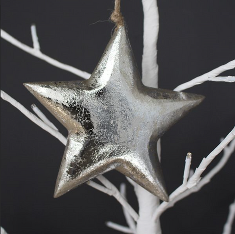 Silver Gilt Hanging Star