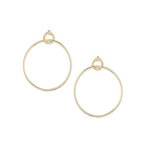 Tranquil Gold Hoop Earrings