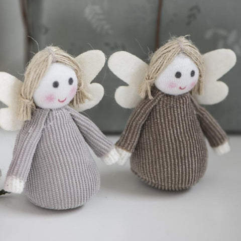 Standing Fabric Angel Brown