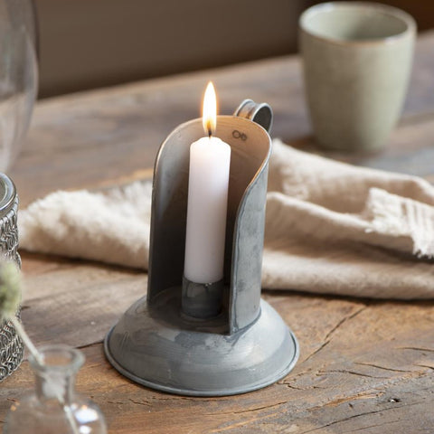 Zinc Candleholder with Handle