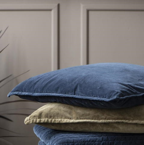 Velvet Cushion Midnight Blue