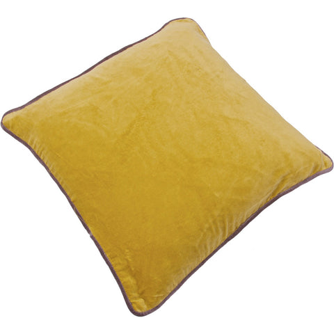 Velvet Square Cushion - Yellow Ochre