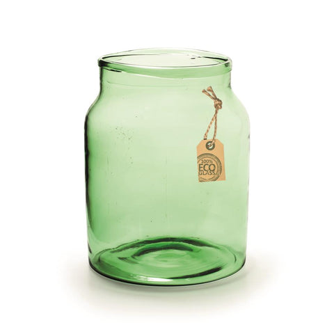 Green Recycled Glass Bell Jar