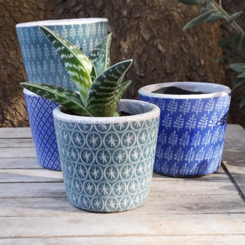 Jardin Rustic Pot Blue