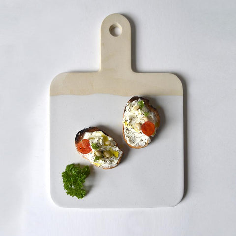 White Ceramic Serving Board