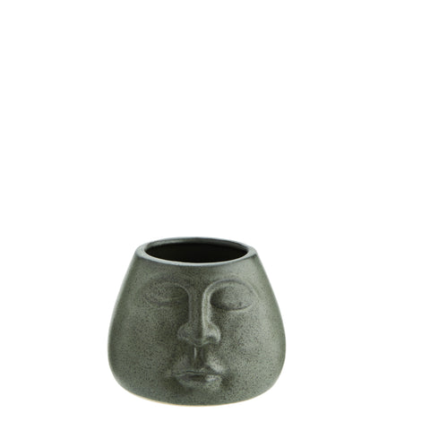 Green Face Pot Large