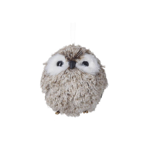 Small Snowy Owl Decoration Brown