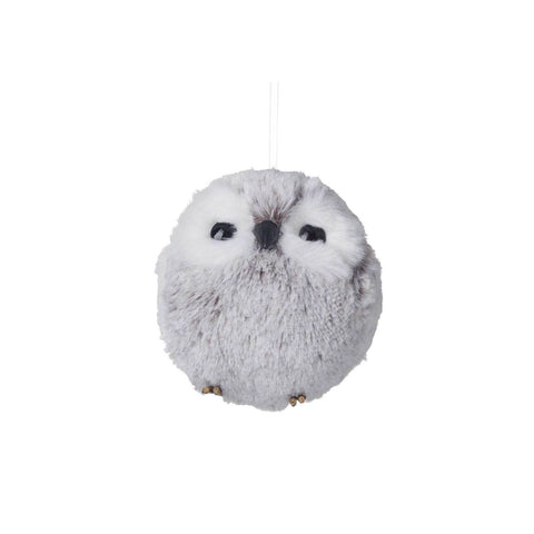Small Snowy Owl Decoration Grey