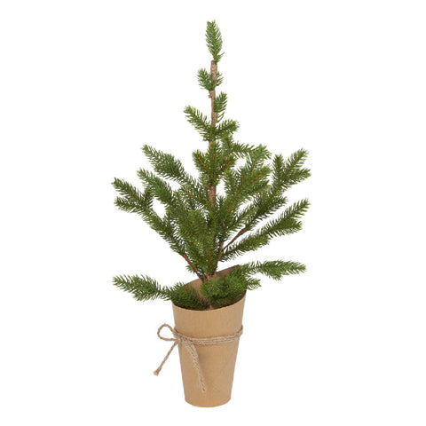 Artificial Pine Tree in Paper Pot
