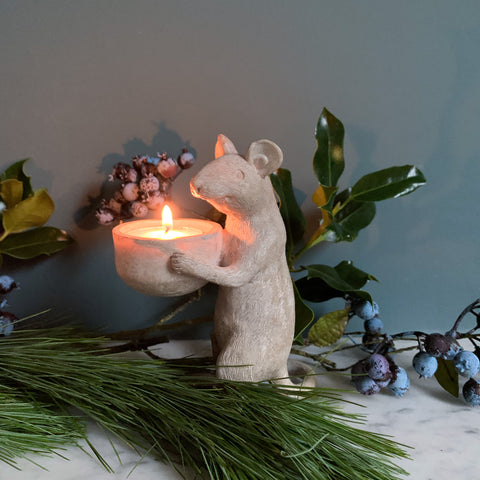 Thoughtful Mouse Tealight Holder