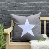 Giant Star Cushion in Charcoal