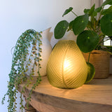 Glass Leaf LED Lamp - Matt Green