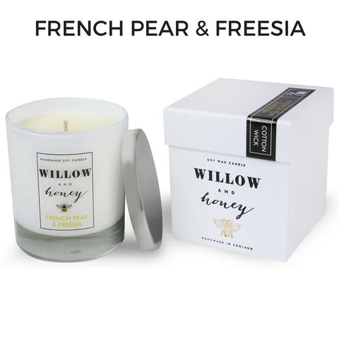 Willow and Honey French Pear and Freesia Scented Candle