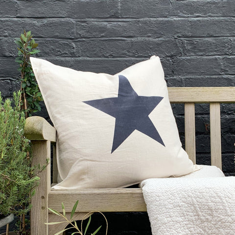 Giant Star Cushion in Off White