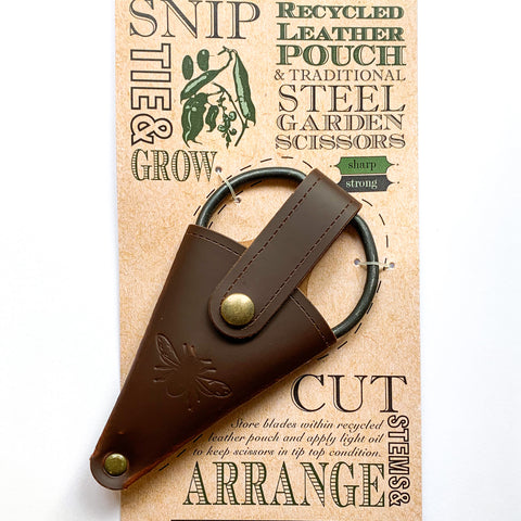 Artisan Garden Scissors in Leather Pouch
