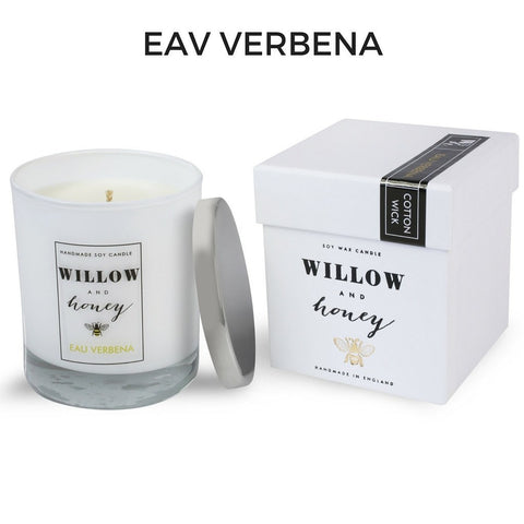 Willow and Honey Eau Verbena Scented Candle
