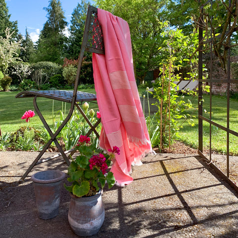 Cotton Hamam Towel in Pink
