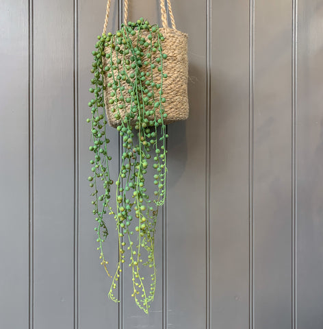 Trailing Faux String of Pearls