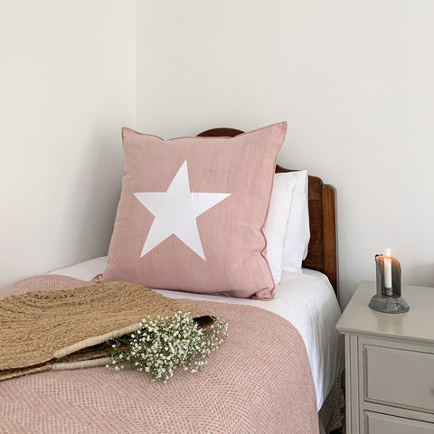 Giant Star Cushion in Pink