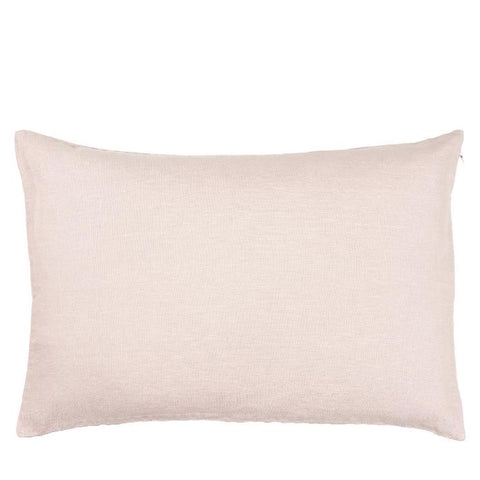 Linen Rectangle Cushion in Rose
