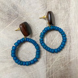 Coco Shell Earrings in Blue