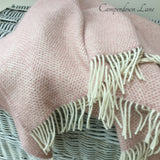 Wool Throw in Dusky Pink Beehive