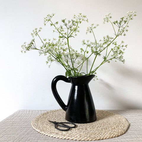 Small Black Terracotta Pitcher