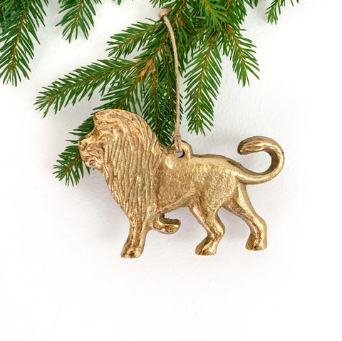 Golden Lion Tree Decoration