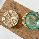 Set of 4 Raffia Coasters