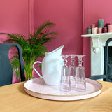 Pink Embossed Round Tray