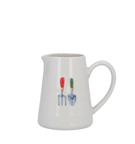 Mini Ceramic Jug with Garden Tools