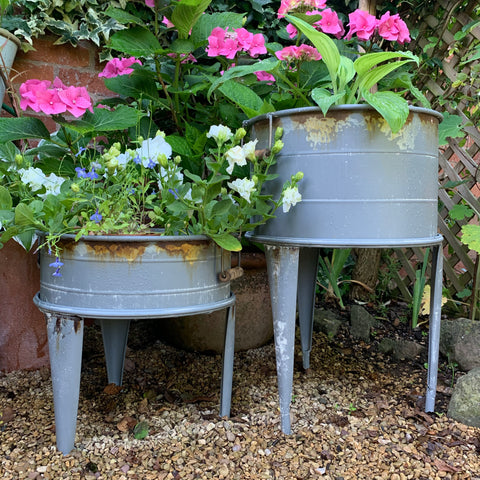 Zinc Planter on Stand - Tall
