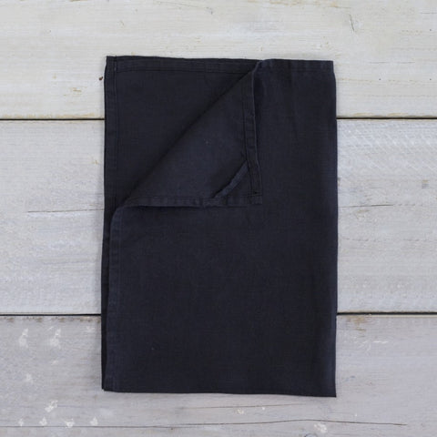 Linen Teatowel in Black
