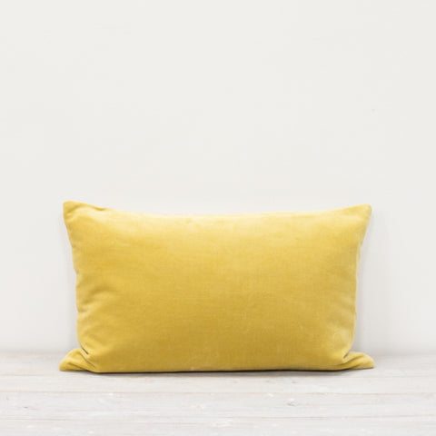 Velvet Rectangle Cushion Citrine Yellow