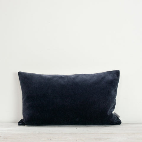 Velvet Rectangle Cushion Indigo