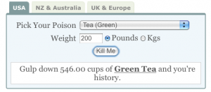 546 Cups of Green Tea Will Kill You