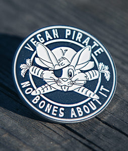 Vegan Pirate Soft Enamel Pin