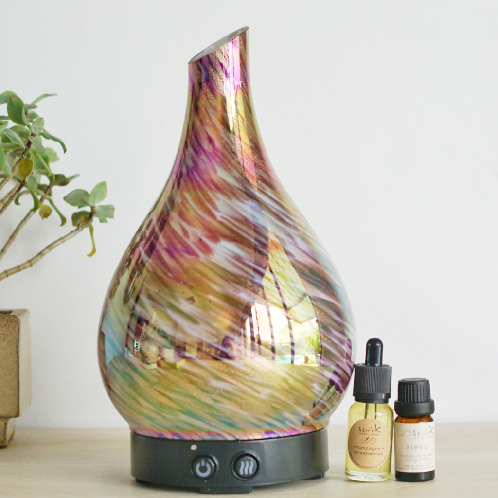 Ultrasonic Diffuser ~ Glass JUMBO Pink Gold