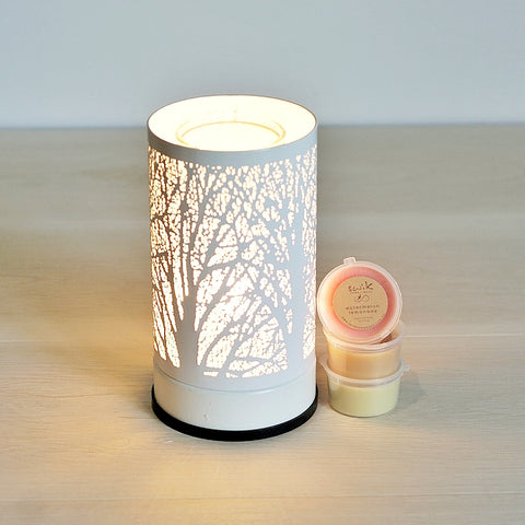 Electric Burner + 12 Melts Pack ~ Touch Lamp White Forest