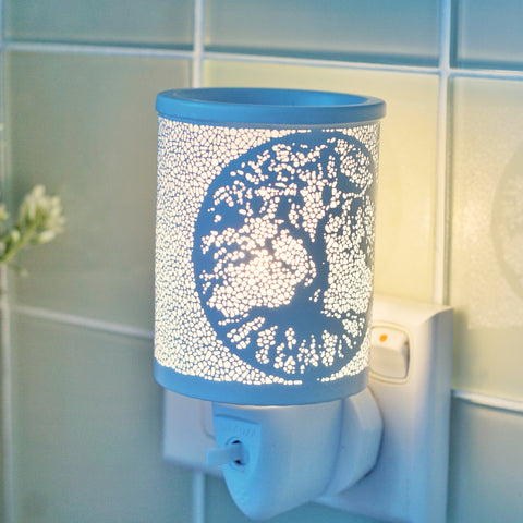 Burner ~ Electric Plug In ~ Tree Of Life White