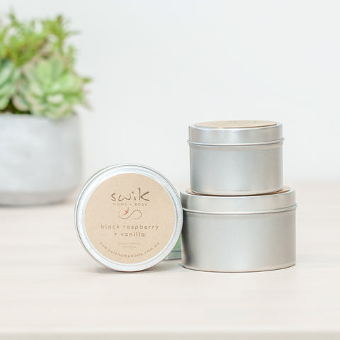 Soy Candle Travel Tins - 3 Tin Gift Pack
