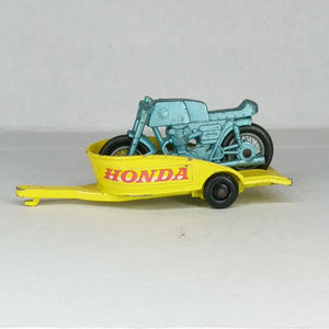 Lesney Honda Motorcycle & Trailer #38
