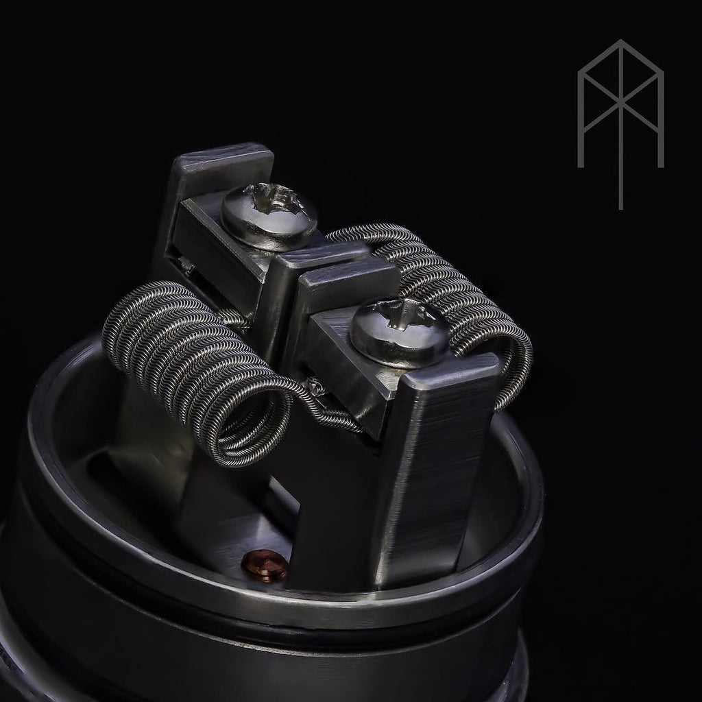 Brushed Nickel VapeAMP Terk RDA 24mm 2 Post - Vaping American Made Products