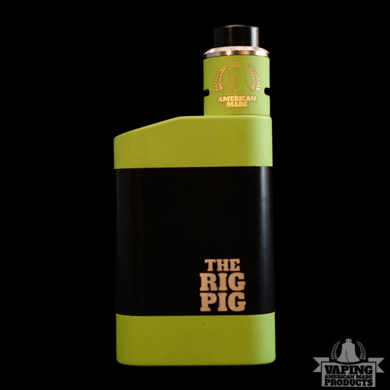 Zombie Green Rig Pig and Zombie Green Roughneck Set - Vaping American Made Products