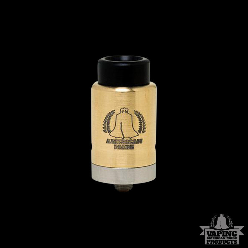 Vape AMP - Dually RDA - Brass - Vaping American Made Products