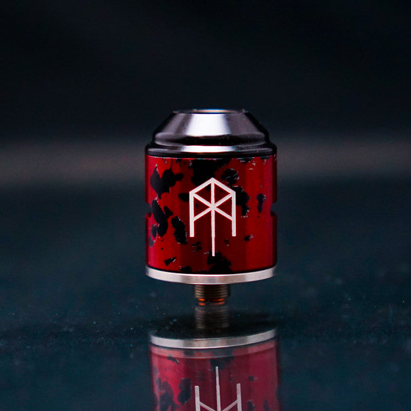 24mm 2 Post VapeAMP Terk RDA Red and Black - Vaping American Made Products