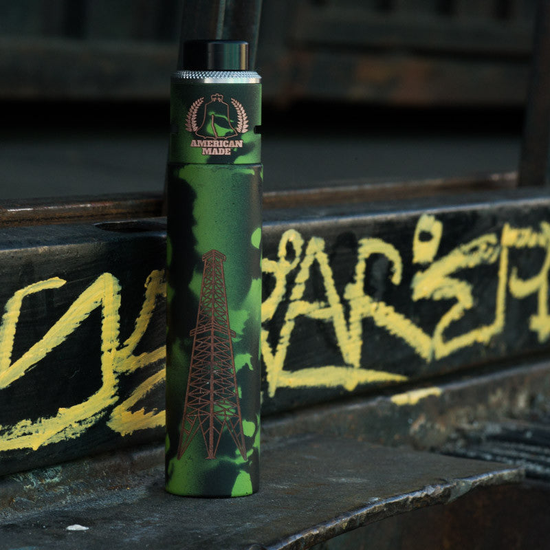 V2 Rig - Zombie Green and Black Skull Camo - Vaping American Made Products
